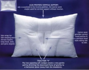 cervical traction pillow